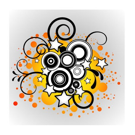 MUSIC ABSTRACT VECTOR ILLUSTRATION.eps