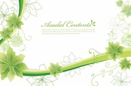 Simples e elegante Floral Background