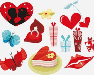 stock vector valentine day icon