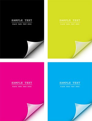 CMYK angolare vettore materiale cartaceo