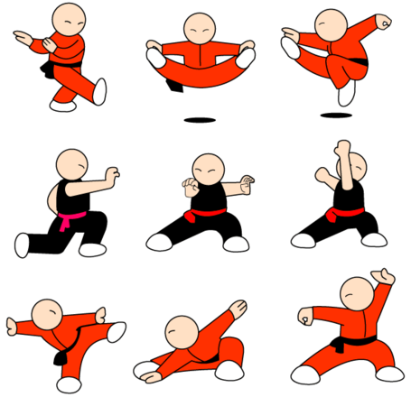 Report Browse > Human & People > Kung Fu Character Free Vector Pack