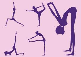 Yoga Girl Silhouettes