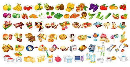The various types of food elements in
