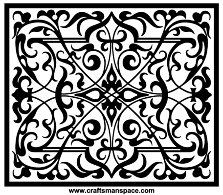 Free Ornament Vectors - Rectangular Shape