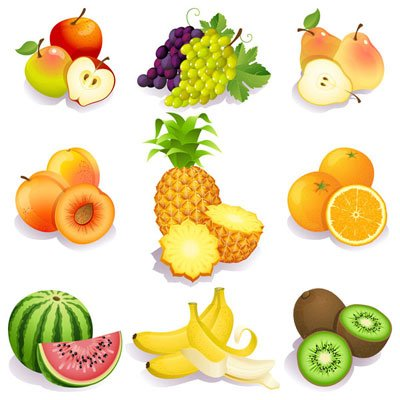 Download Fresh fruits vectors