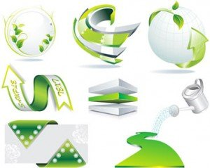 Stock Ilustrations Green Symbols Vectors