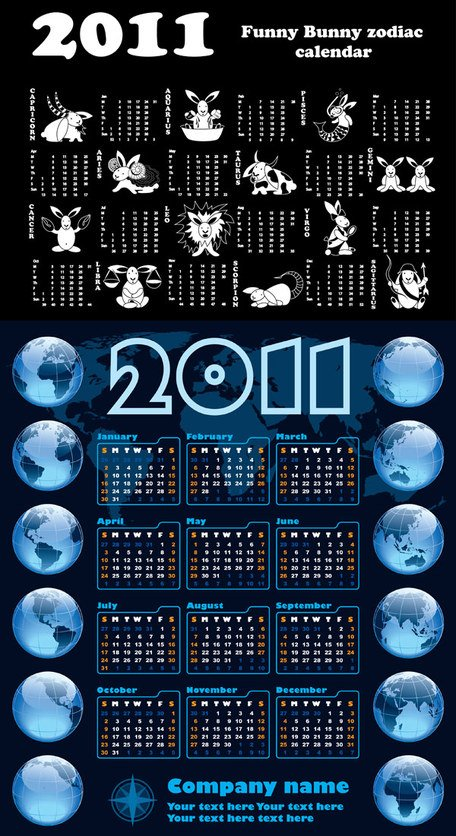 Calendar Year of the Rabbit 2011