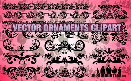 Vecteur 18 ornements Clipart
