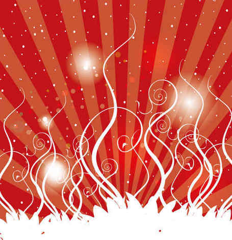 swirls red background