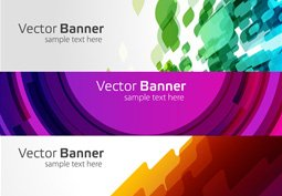 Moderne vector banners