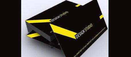 Black & Yellow Angle Line Business Card Template