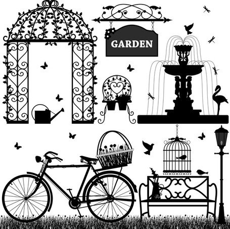 Europeanstyle Garden Elements