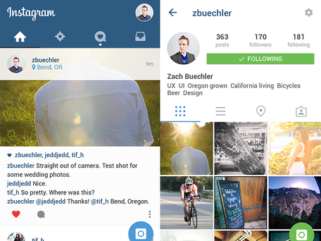 Instagram i materialdesign