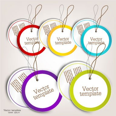 Exquisite creative label sticker vector-2
