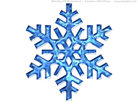 Blue snowflake icon (PSD)