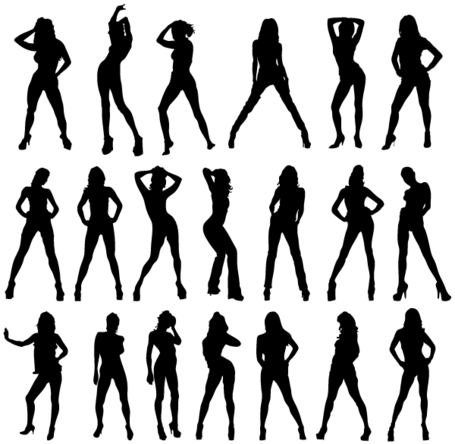 Filles sexy Silhouettes Vector Image gratuit