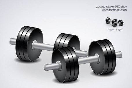 Kostenlose Fitness-Ikone-Dumbbell-Trainings