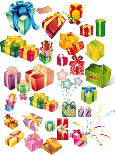 Gift box clip art free vector gift box 1000 graphics clipart abstract shiny xmas card with gift box many gift box negle Choice Image