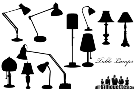 Free Free Vector Table Lamps Silhouettes Clip Art, Vector & ...