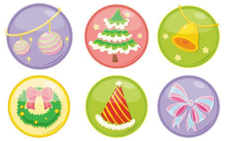 Exquisite Christmas ornaments icon