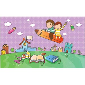 Illustrations vectorielles enfant 0000025 Air Art