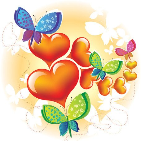 Love Butterfly Vector Graphic Abstract Animals Background