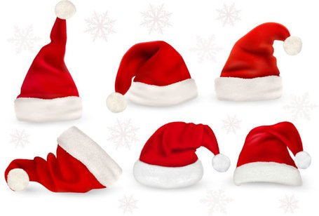 Christmas hats, Vector File - Clipart.me