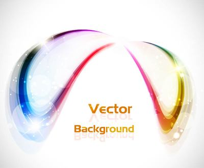 Abstract Colorful Curve Background with Glares