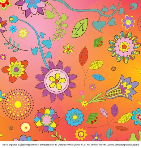 Bright Summer Flower Vectors