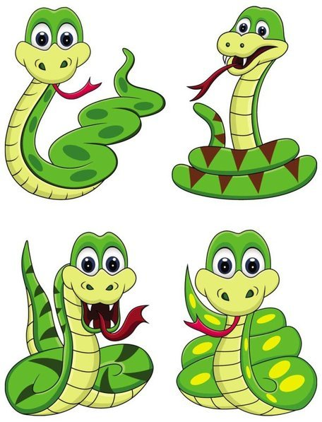 Cute cartoon snake 01