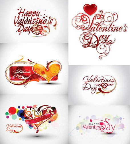 Valentine's Day Theme Vector word