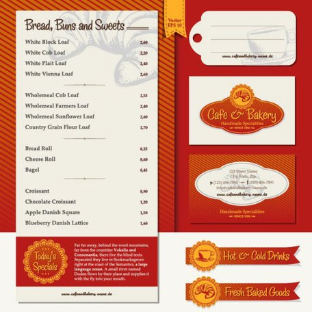 Restaurant menu label template 04
