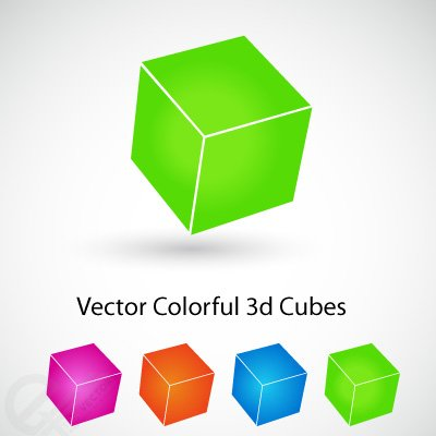 Vector Colorful 3d cubes