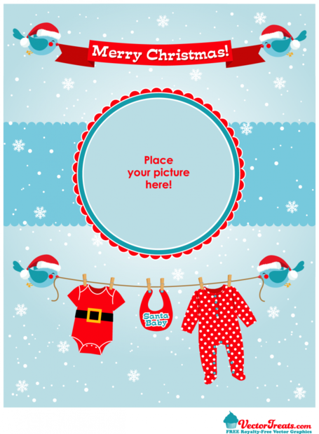 Free Royalty-Free Vectors To Show Off Your Little Santa Baby
