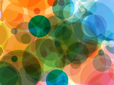 Abstract Blurry Circles Background