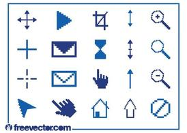 Pixelated Icons Graphics Set