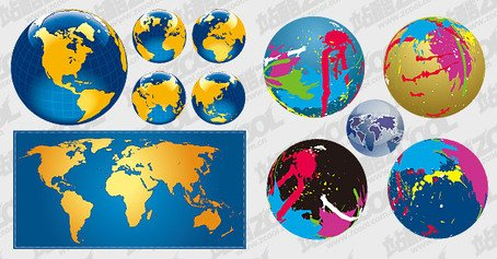 3 Earth and the world map