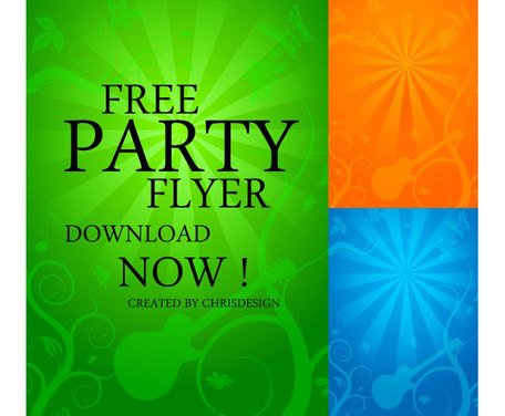 Free Party Flyer Background, Vector File - Clipart.me