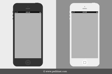 Platt iPhone trådram Design mall (PSD)