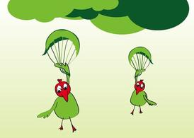 Grappige Cartoon vogels