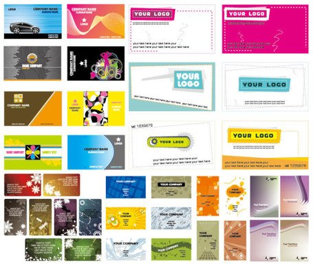 5 sets of beautiful business card template