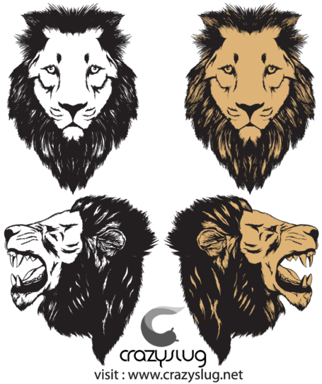 Roaring Lion Head Vector Free