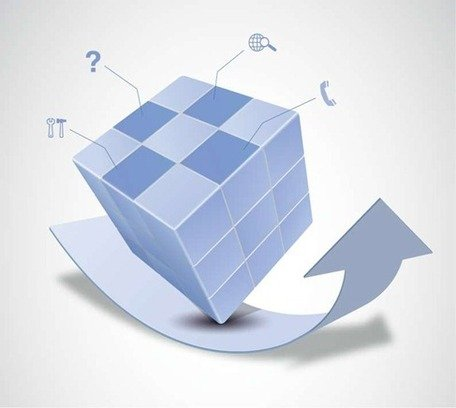 free vector magic cube and arrow design clipart and vector graphics