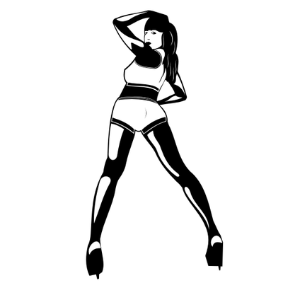 Woman Dancing in a Club Silhouette