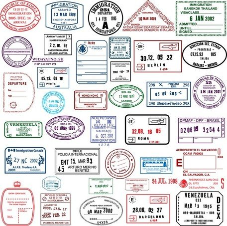 countries in the visa stamp  vector images clipart me passport stamps clipart black and white passport stamps clip art free