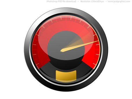 PSD red speedometer icon