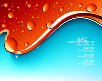 Droplets with Splitted Red Blue Background