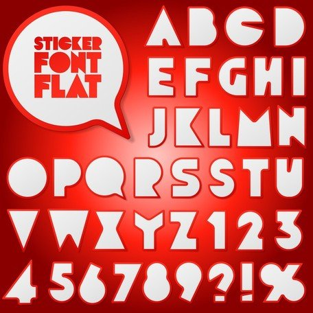 Stickers Vector 2 Numbers And Letters
