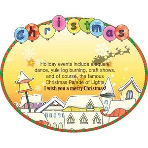 Yellow Christmas Card Vector Illustration Baloom Card Celebration