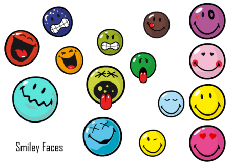 Free Ai Smiley Face Vector Pack